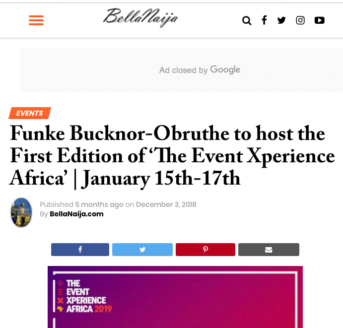 The Event Experience Africa convened by Funke Bucknor Obruthe